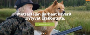 Suomen Metsästäjäliitto suosittelee lasten harrastukseksi eläinten tappamista. Kuvakaappaus järjestön kotisivuilta 23.1.2016.