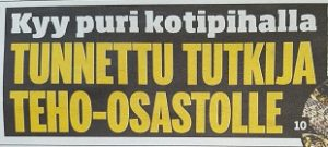 Etusivun otsikko Ilta Sanomissa 19.7.2016.
